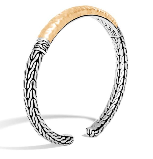 Classic Chain Flex Cuff in Silver