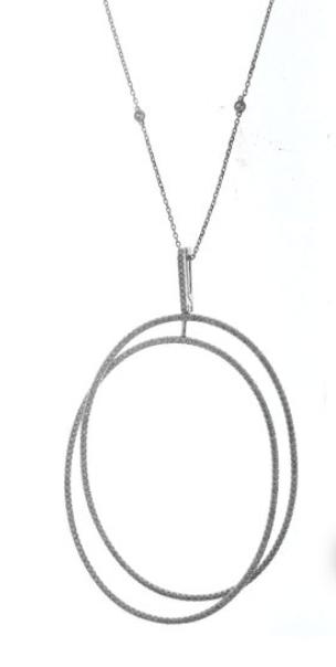 White Gold Pendant with 272 diamonds